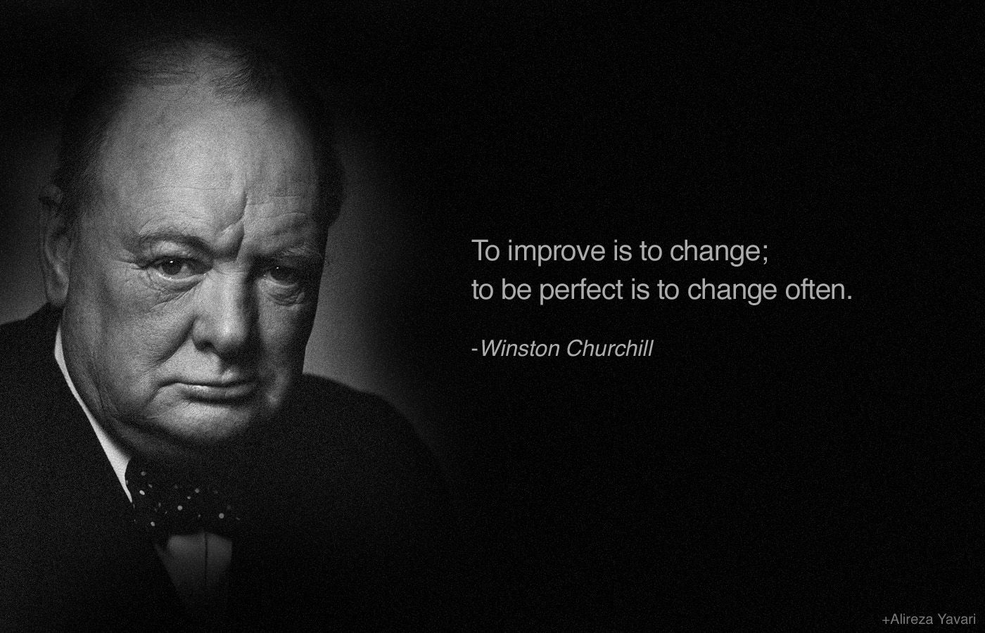 to improve is to change