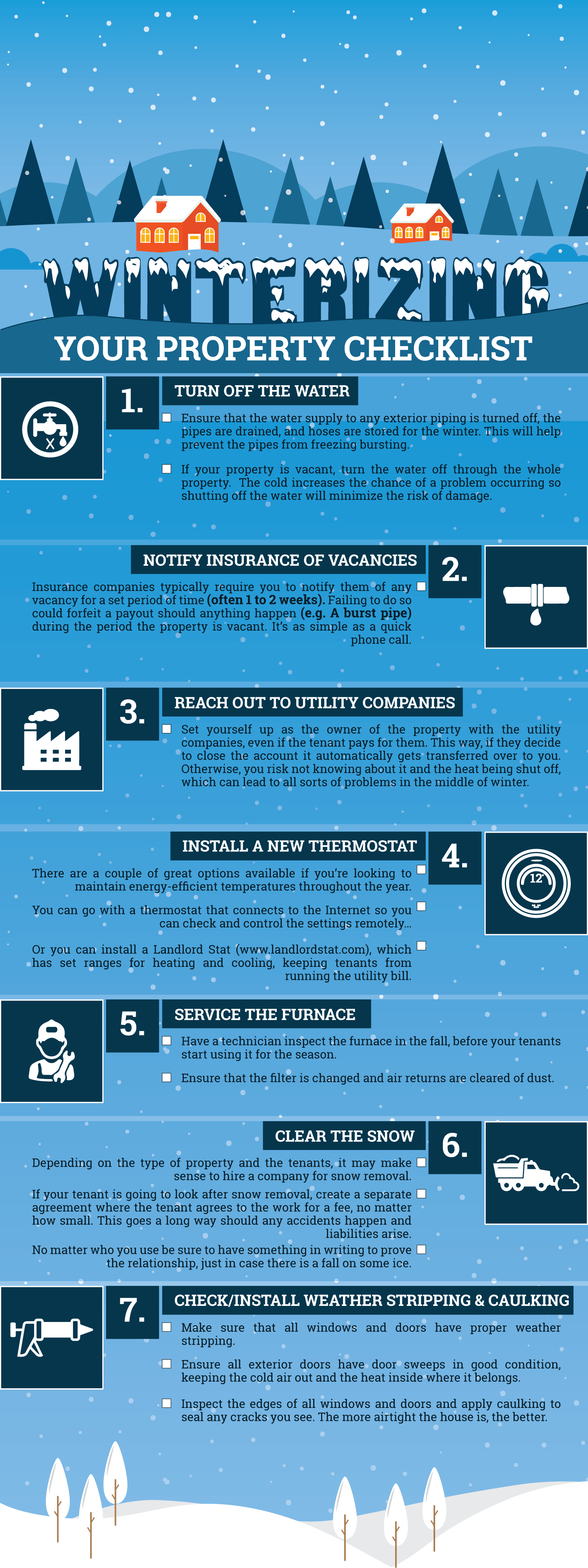 Winterizing Your Property Infographic