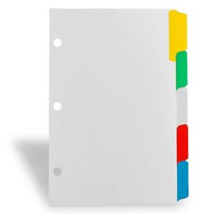 Keep Proper Records For Successful Real Estate Investing - Multi-Colour Labelled Binder Dividers